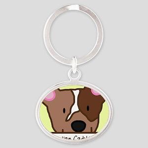 generic_cattledogred Oval Keychain
