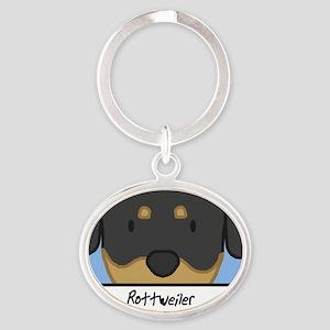 generic_rottweiler Oval Keychain