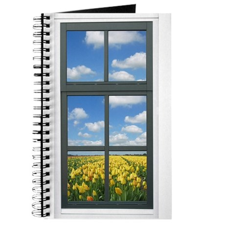 Holland Spring Tulips Faux Window View Journal