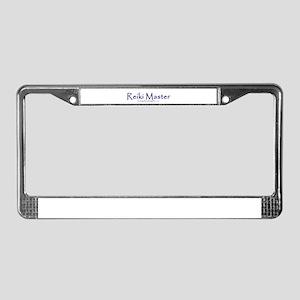 Reiki Master, purple License Plate Frame