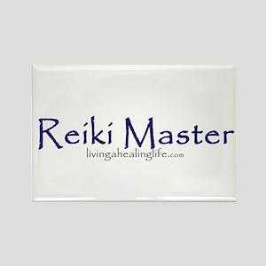 Reiki Master, purple Rectangle Magnet
