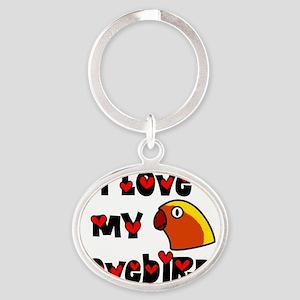 generic_lovebirdfischer Oval Keychain