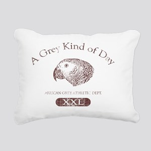 greykindaday_red Rectangular Canvas Pillow