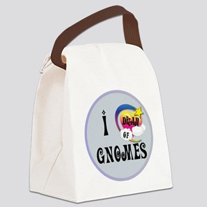I Dream of Gnomes Canvas Lunch Bag