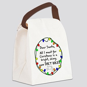 dearsantadirtbike Canvas Lunch Bag