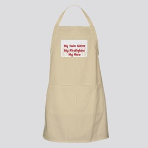 My Twin Sister My Firefighter BBQ Apron