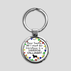 ds_swedishvallhund Round Keychain
