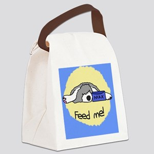 oes_feedme_ornament Canvas Lunch Bag