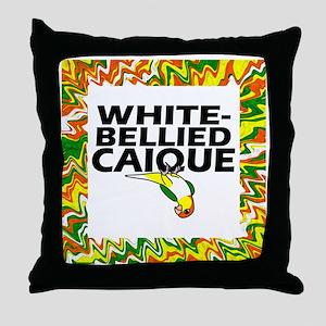 whitebelliedcaique_tilebox Throw Pillow