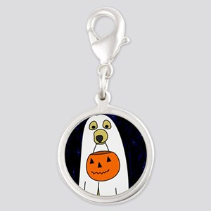 trickortreat_mousepad Silver Round Charm