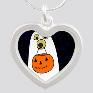 trickortreat_mousepad Silver Heart Necklace
