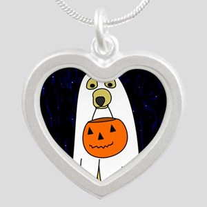 trickortreat_ornament Silver Heart Necklace