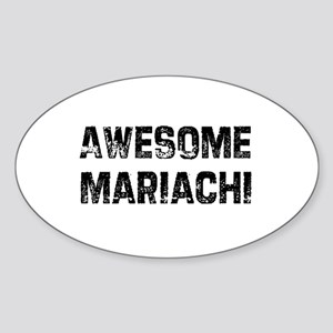 Awesome Mariachi Oval Sticker