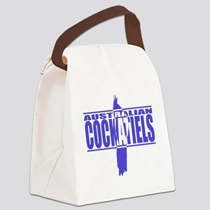 silhouette_cockatiel_black Canvas Lunch Bag