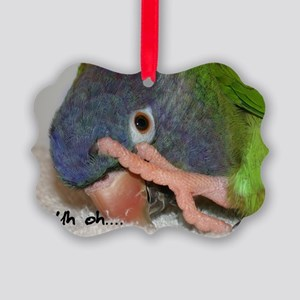 bluecrown_uhohcards Picture Ornament