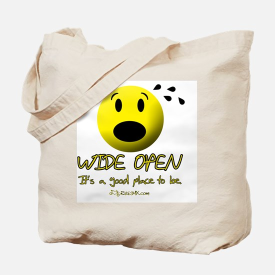 wideopen Tote Bag