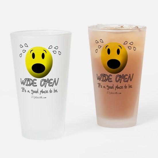 wideopen_cardinal Drinking Glass