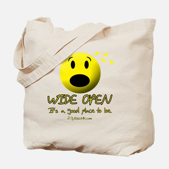 wideopen_black Tote Bag