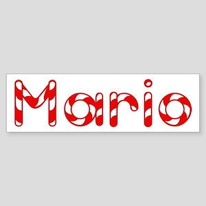 Mario - Candy Cane Bumper Sticker