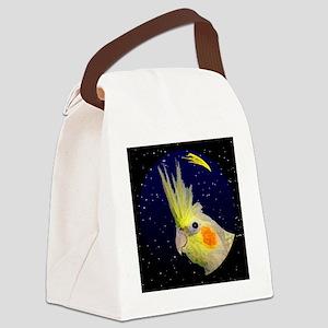 christmasnight_cp_cockatiel Canvas Lunch Bag