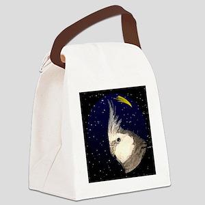 christmasnight_wf_cockatiel Canvas Lunch Bag