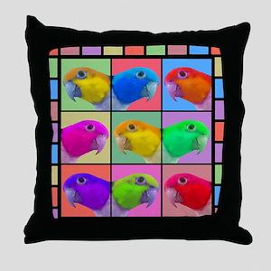 warhol_wbcaique_mousepad Throw Pillow