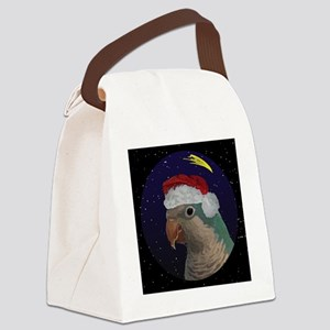 christmasnight_quaker_blue Canvas Lunch Bag