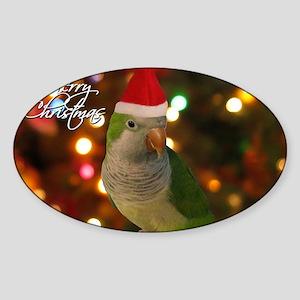 quaker_santa_card Sticker (Oval)