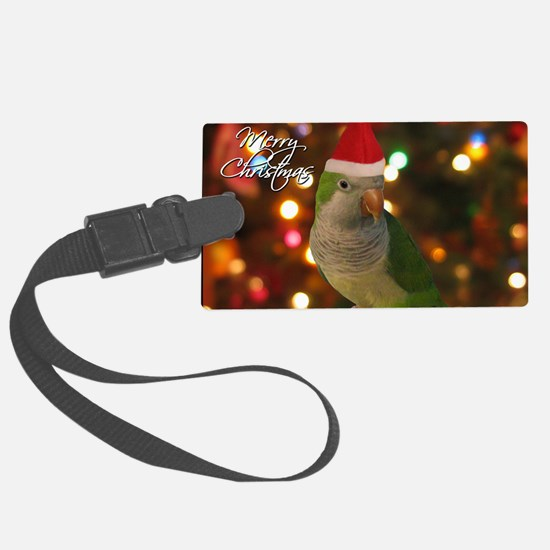 quaker_santa_card Luggage Tag
