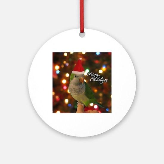 quaker_santa_ornament Round Ornament