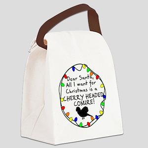 dearsanta_cherryheadedconure Canvas Lunch Bag