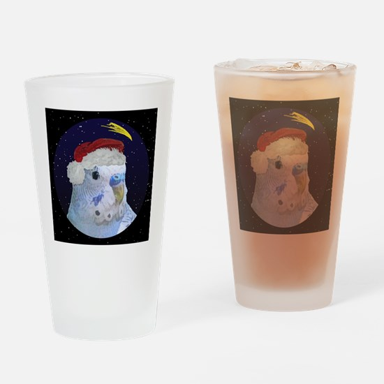 3-christmasnight_bluebudgie Drinking Glass