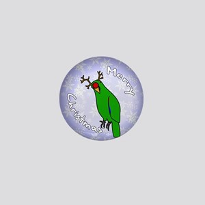 eclectus_reindeerornamentmale Mini Button