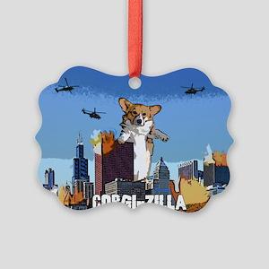 corgizilla Picture Ornament