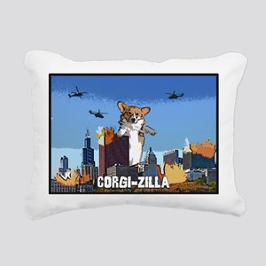 corgizilla Rectangular Canvas Pillow