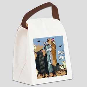 corgikong_mousepad Canvas Lunch Bag
