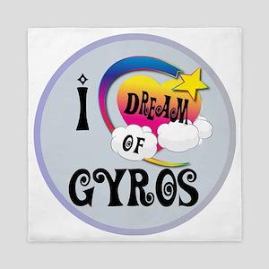 I Dream of Gyros Queen Duvet