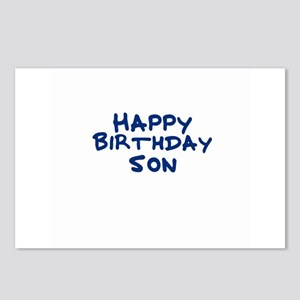 Happy Birthday Son Postcards (Package of 8)