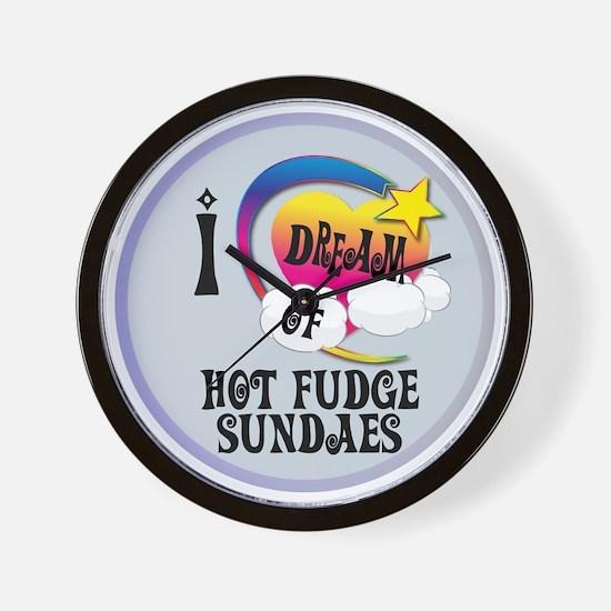 I Dream of Hot Fudge Sundaes Wall Clock