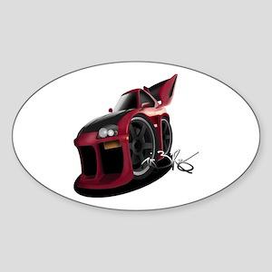 MKIV Supra Toon Oval Sticker