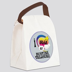 I Dream of Hunting Treasure Canvas Lunch Bag