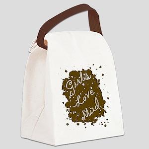 girls_love_mud Canvas Lunch Bag