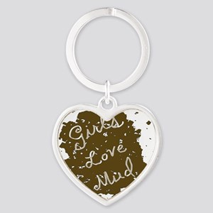 girls_love_mud Heart Keychain