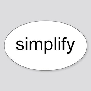simplify Sticker (Oval)