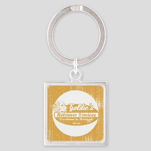 goldiesretrivalservice_ornament Square Keychain