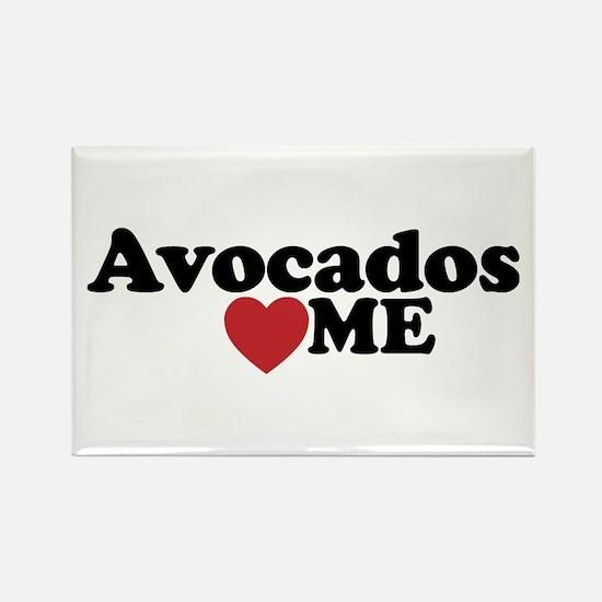 Avocados Love Me Rectangle Magnet