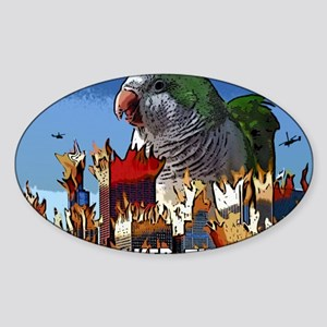 quakerzilla Sticker (Oval)