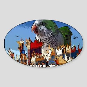 quakerzilla_card Sticker (Oval)