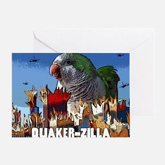 quakerzilla_poster Greeting Card