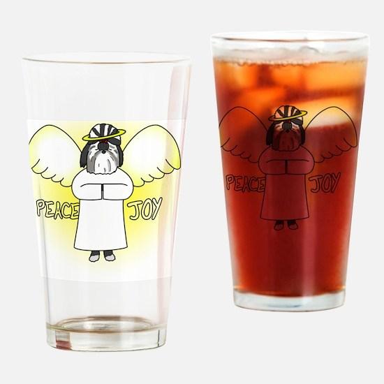 peacejoy_shihtzu_black Drinking Glass